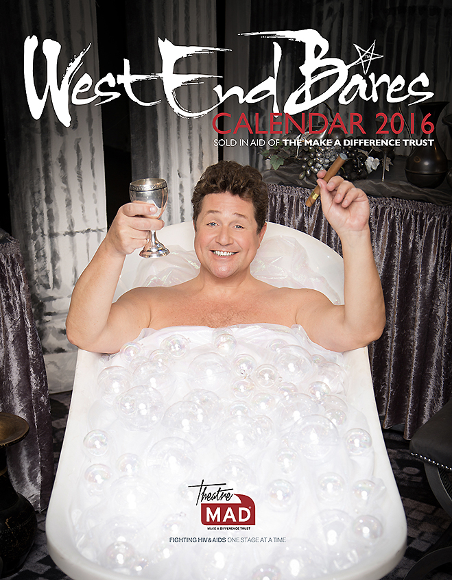 Sir Michael Ball, photographed at the Chichester Festival Theatre for West End Bares calendar 2016