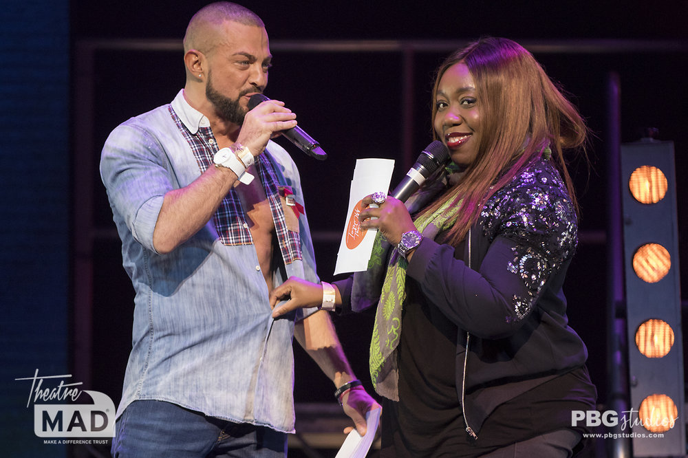 Robin Windsor and Chizzy Akudolu, West End Bares 2018 (Shaftesbury theatre)