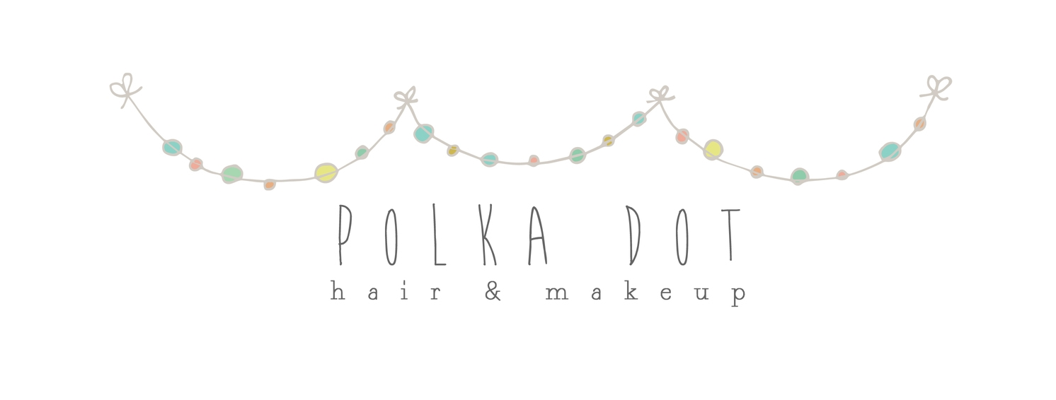 Polka Dot Hair and Makeup