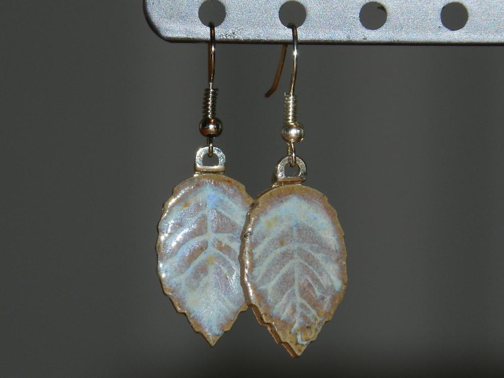 Earrings-Blue leaves