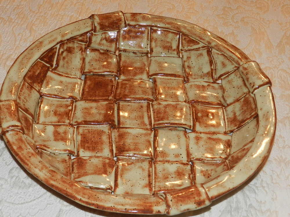 Large Woven Dish-Randy's Oatmeal Glaze