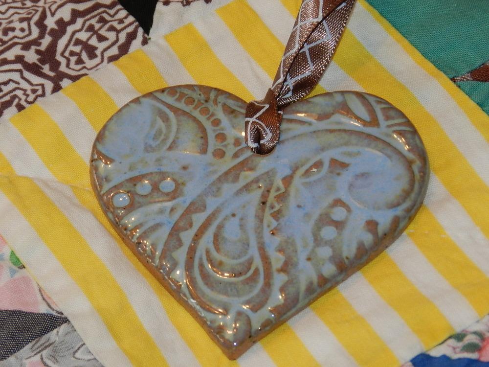 Ornament-Blue heart