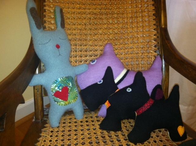 Sleepy Bunny and Scotties-front