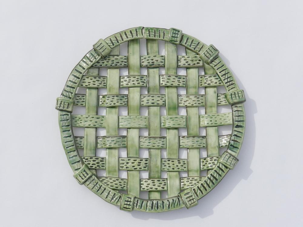 Woven Green Decorative Plate