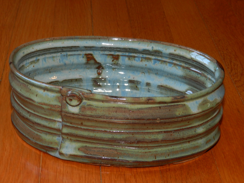 Casserole Dish-Blues and Browns