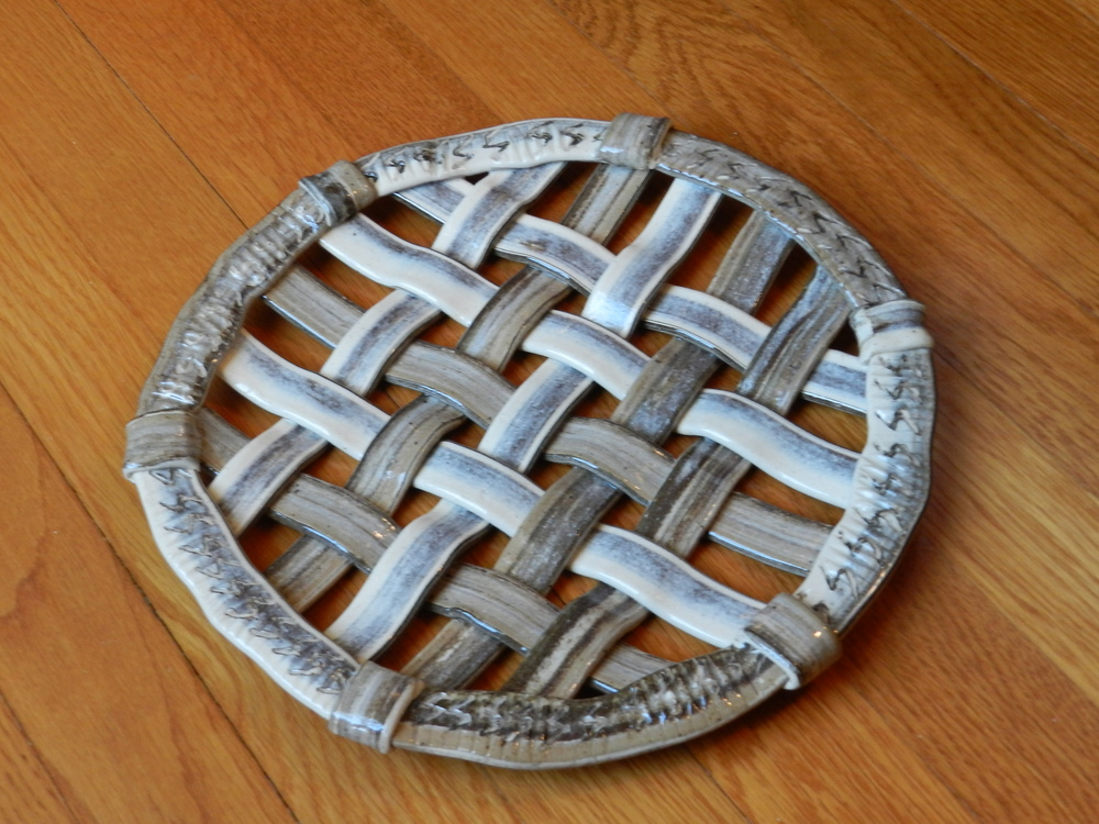 Woven Tray with Multiple Clays