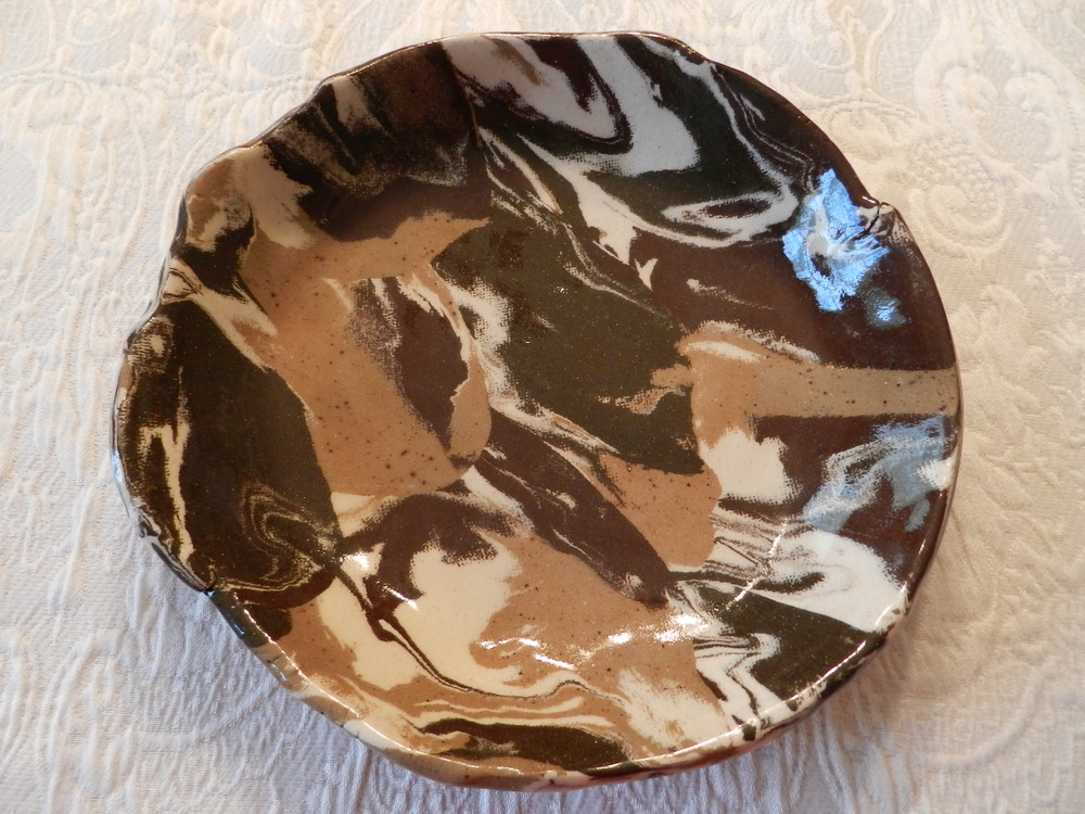Pie Plate-Marbled Clays