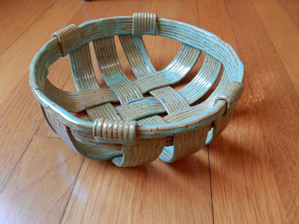 Woven Bread Basket-Green