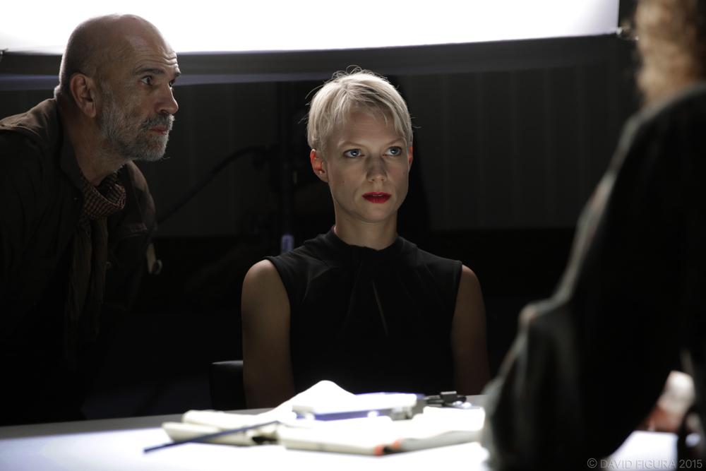 On set with cinematographer Frido Feindt. Photo David Figura.
