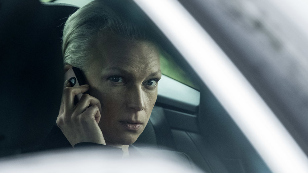 Lise Risom Olsen as the Russian Diplomat Anna Kasharina in Below The Surface 2. Photo: Christian Giesnaes.