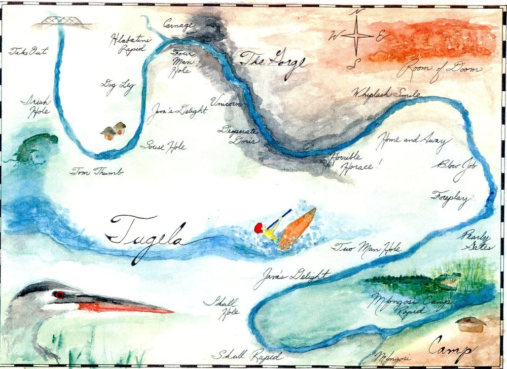 Map of the Tugela River by Joseph Bump