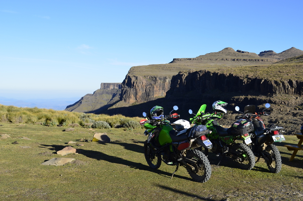 Some adventure bikers made quick work of the climb.