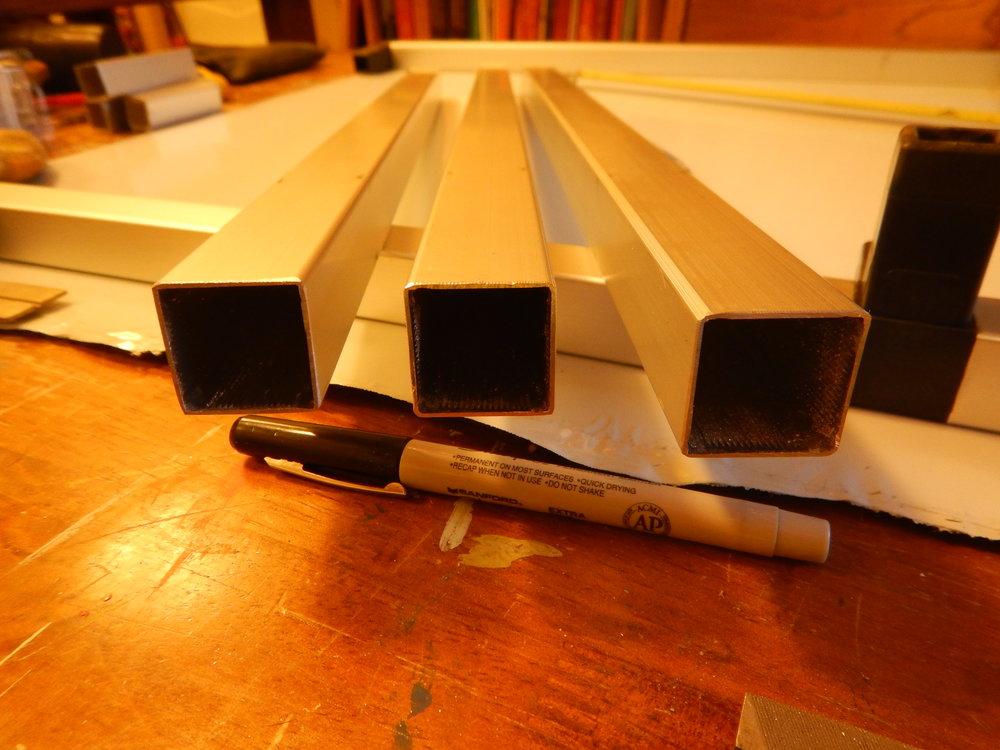 Beveled inside edges of the tubing.
