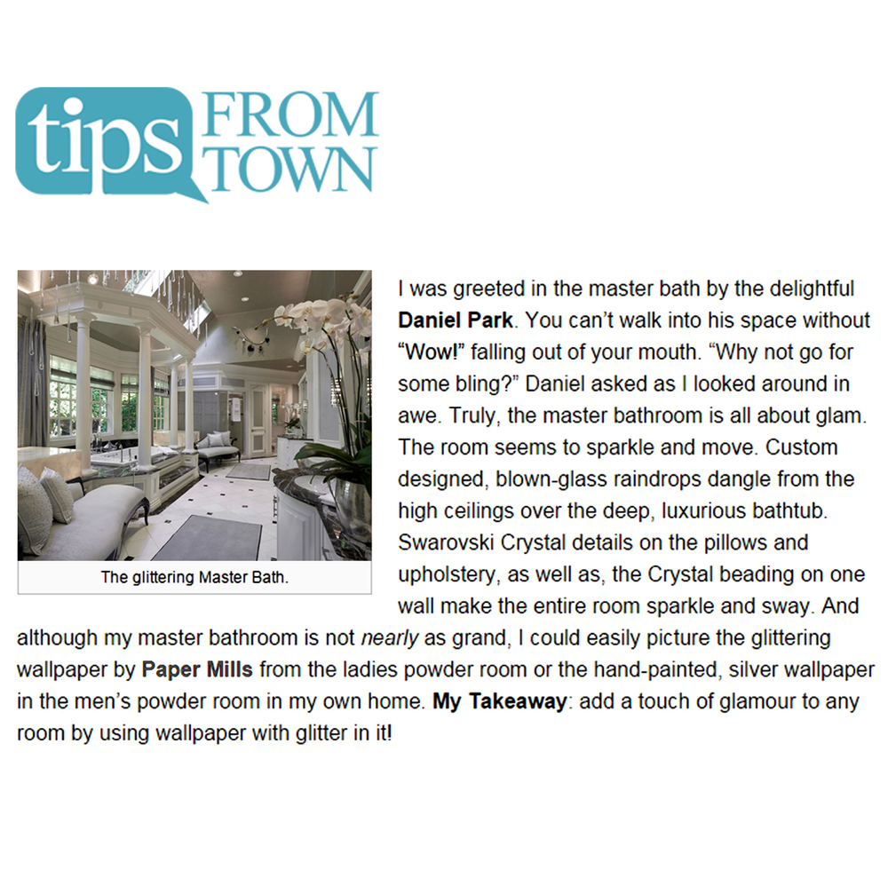TIPS FROM TOWN