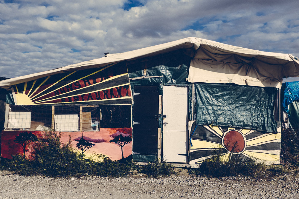 Sunshine Restaurant in the Jungle. Calais, France. 2016.