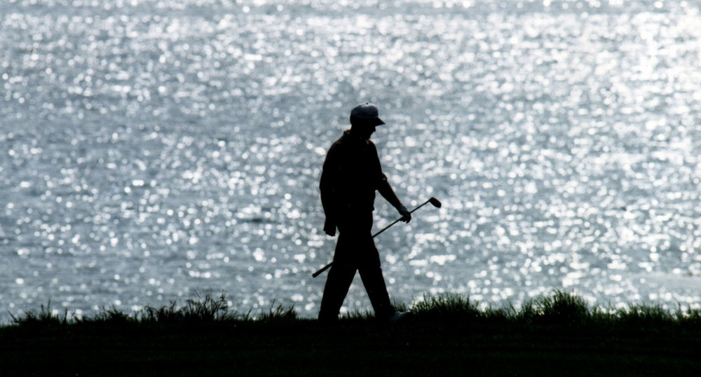 Golfer Silhouette, Robert Kaufman