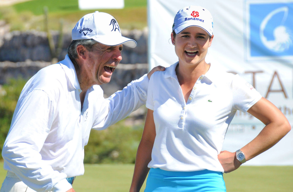 Lorena Ochoa and Gary Player