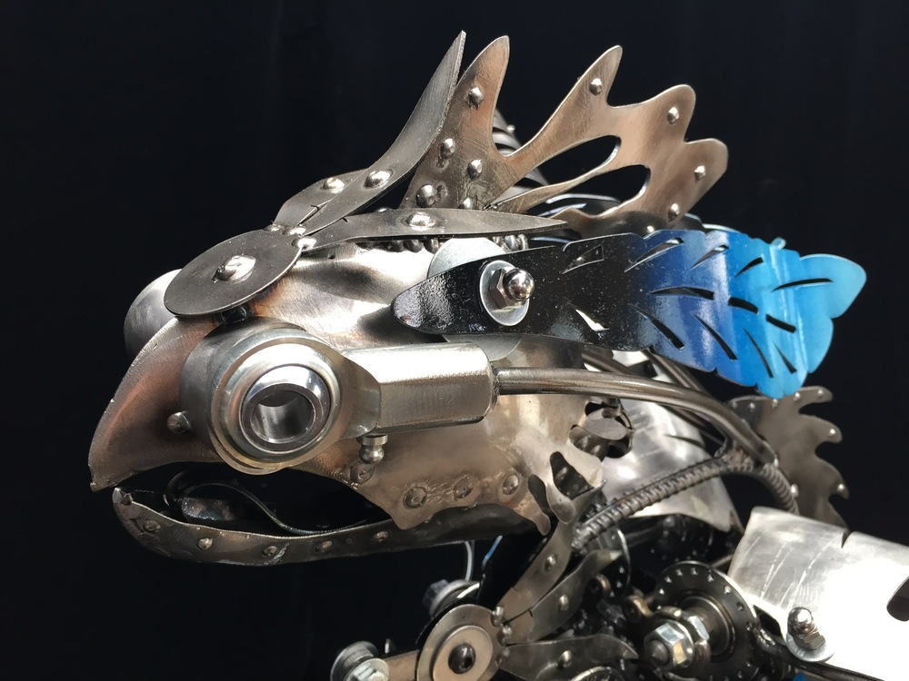 Kinetic Bird Sculpture by Chris Cole Commissioned for Tillamook 002