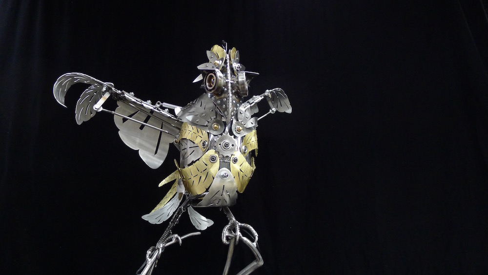 "Kinetic Sculpture ""Amelia"" by artist Chris Cole 001"