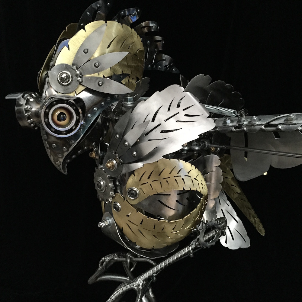 "Kinetic Sculpture ""Amelia"" by artist Chris Cole 004 Top Detail"