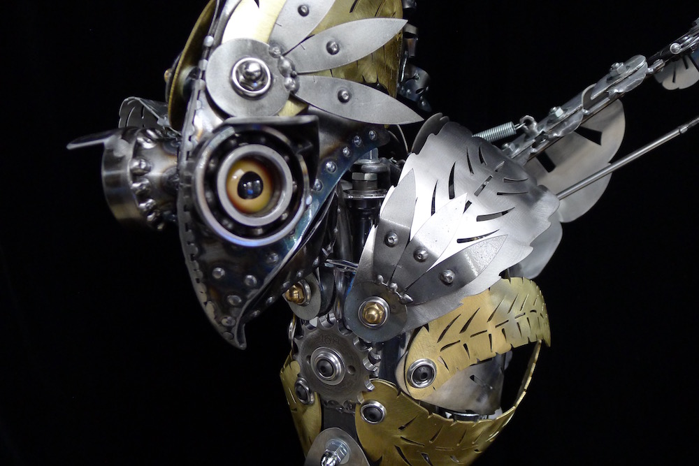 "Kinetic Sculpture ""Amelia"" by artist Chris Cole 005 Bird's Eye Detail"