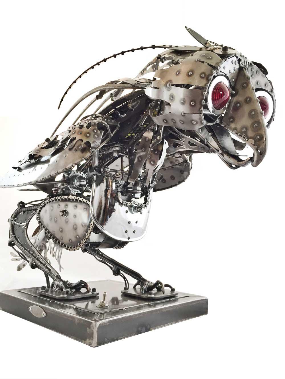 Chandelle Kinetic Sculpture by Chris Cole detail 002