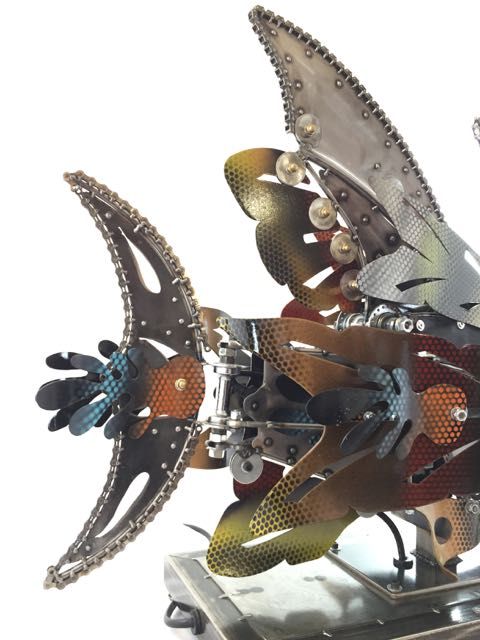 Rita Kinetic Sculpture by Chris Cole fish fin detail 006