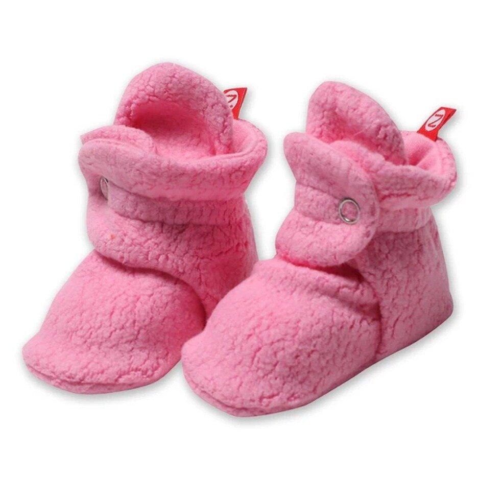 Zutano Cozie Fleece Baby Booties - Pink
