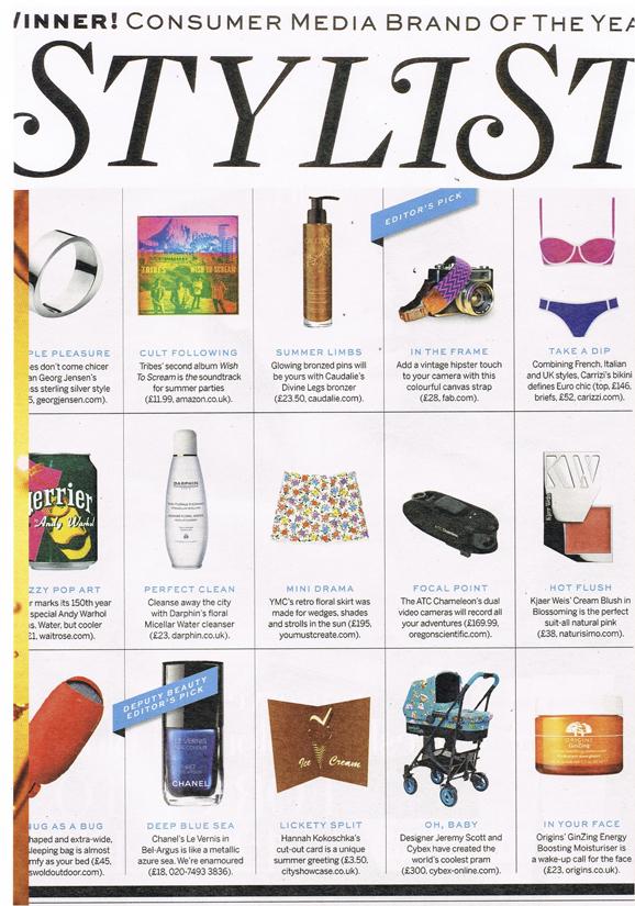 Hannah Kokoschka Ice-cream pop-up greetings card in Stylist magazine