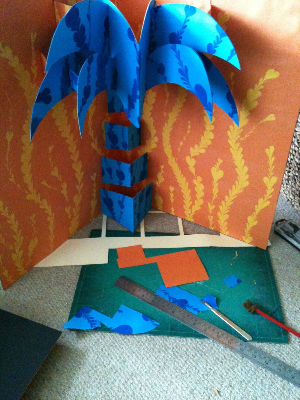 Hannah Kokoschka pop-up palm tree artwork