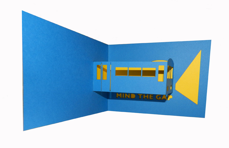 Mind the Gap London pop-up card