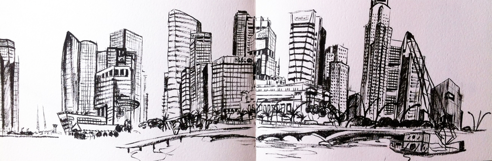 Hannah Kokoschka's singapore sketch