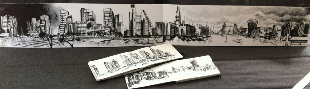 Developed from my location sketches in my moleskin sketchbooks which are never far to hand!