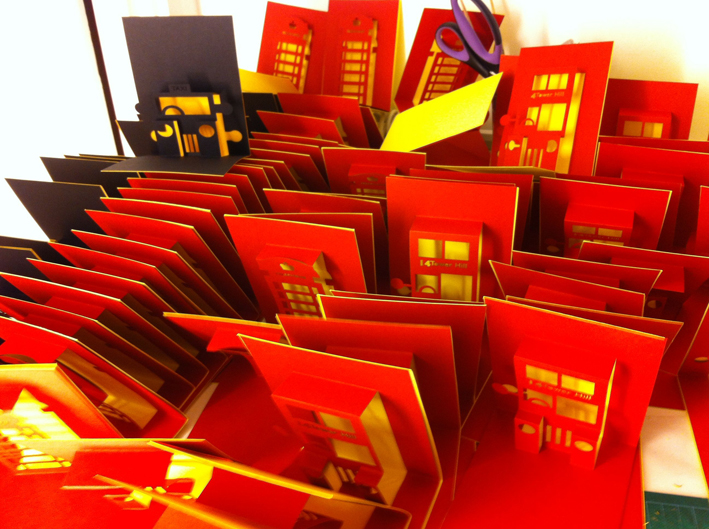 hannah kokoschka pop-up cards for Tate Modern