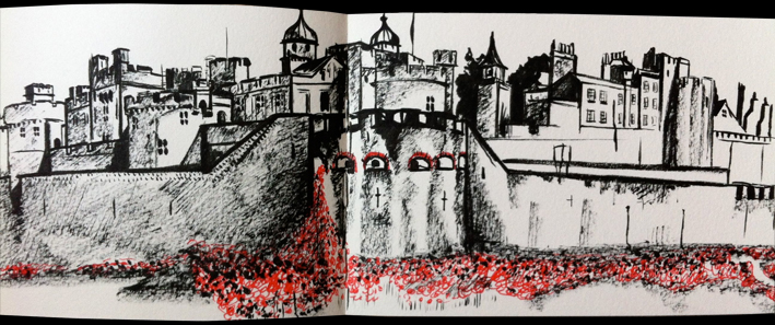 Hannah Kokoschka poppy sketch