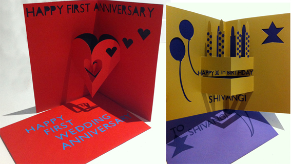 Hannahkokoschka bespoke pop-up cards