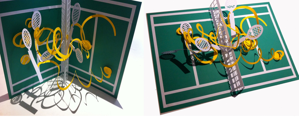 Hannah kokoschka giant tennis pop-up cards
