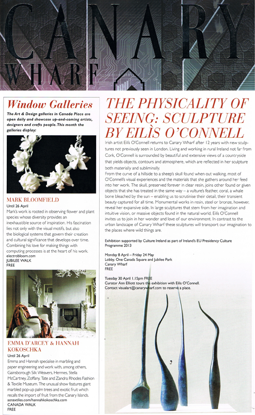 Canary Wharf Group - Hannah Kokoschka Window display