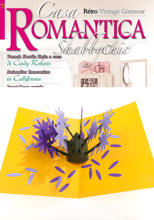 Casa di Romantica Italy - Hannah Kokoschka lavender pop-up card