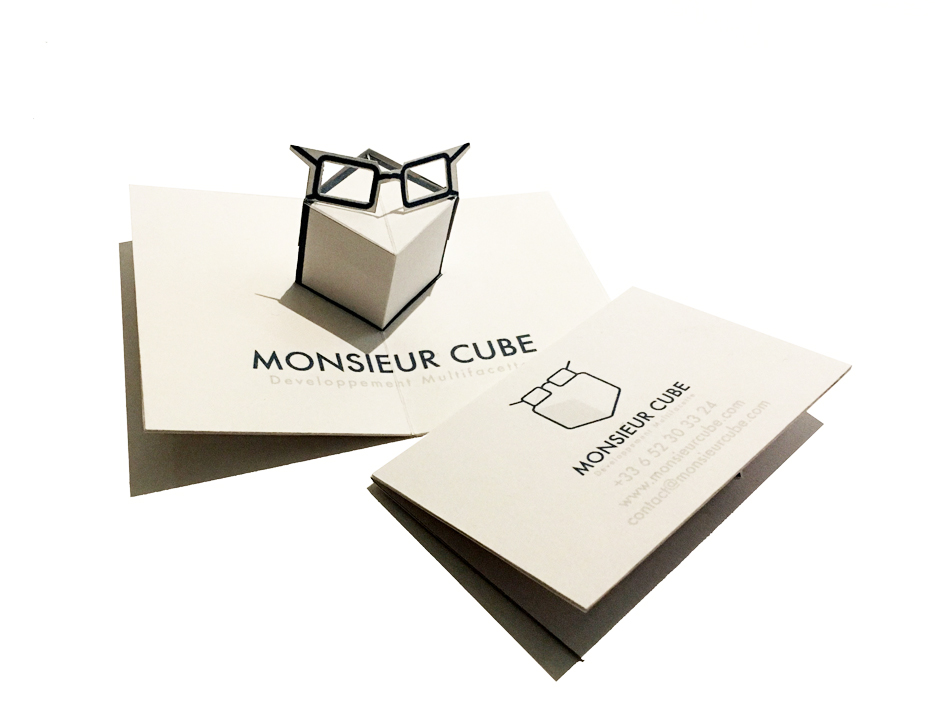 Client: Monsieur Cube                                                Pop-up business card