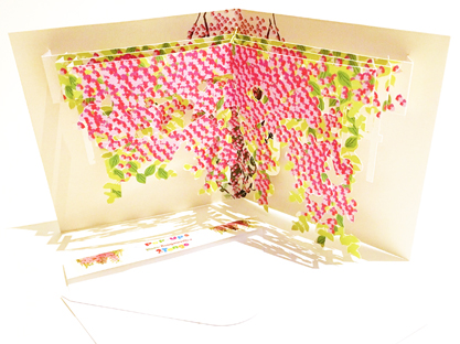 Bougainvillea  Vine themed pop-up card (part of a set of six)  CLICK HERE TO PURCHASE