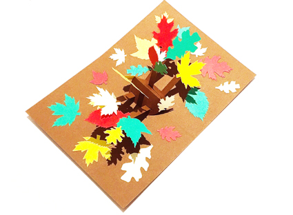 Autumn leaves  pop-up card