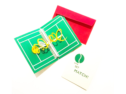 Game, set, Match!  A tennis themed pop-up card