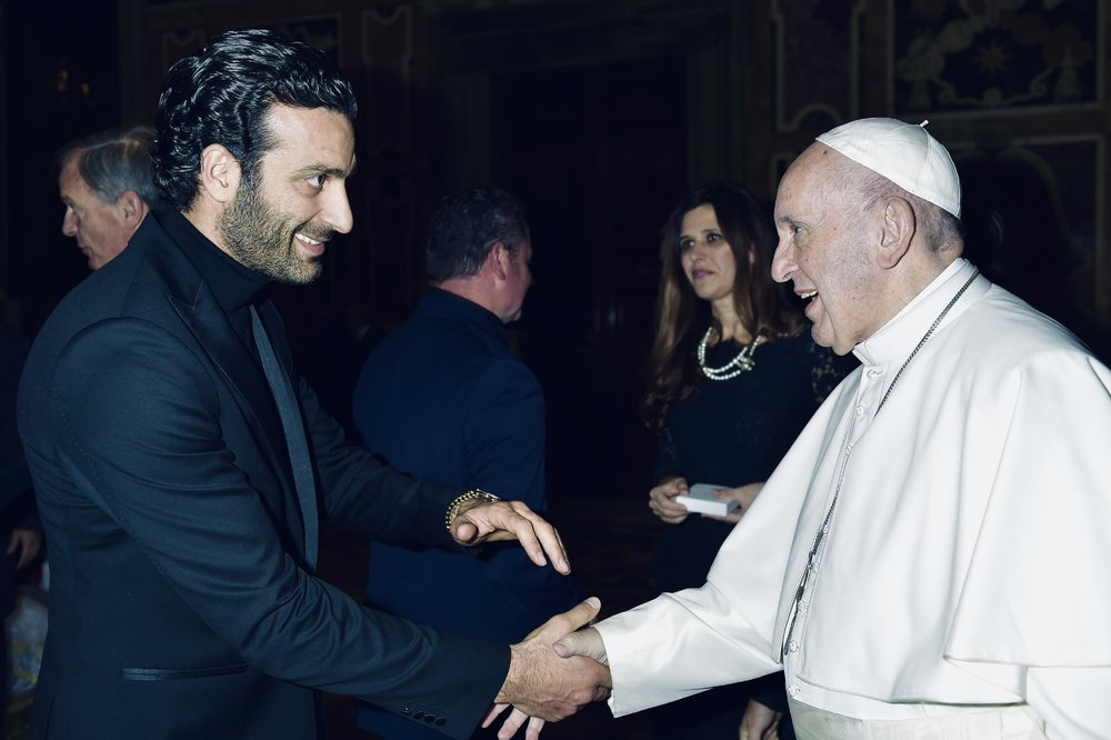 Rame Lahaj, during his visit at Vatican, meeting with Pope Francis and other personalities.