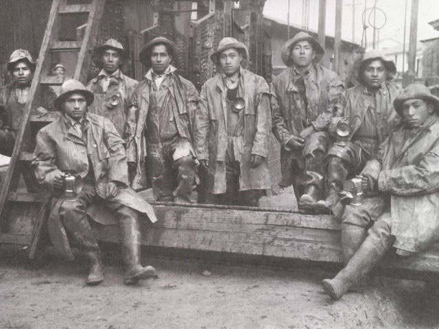 Miners, Cerro de Pasco, early 20th century