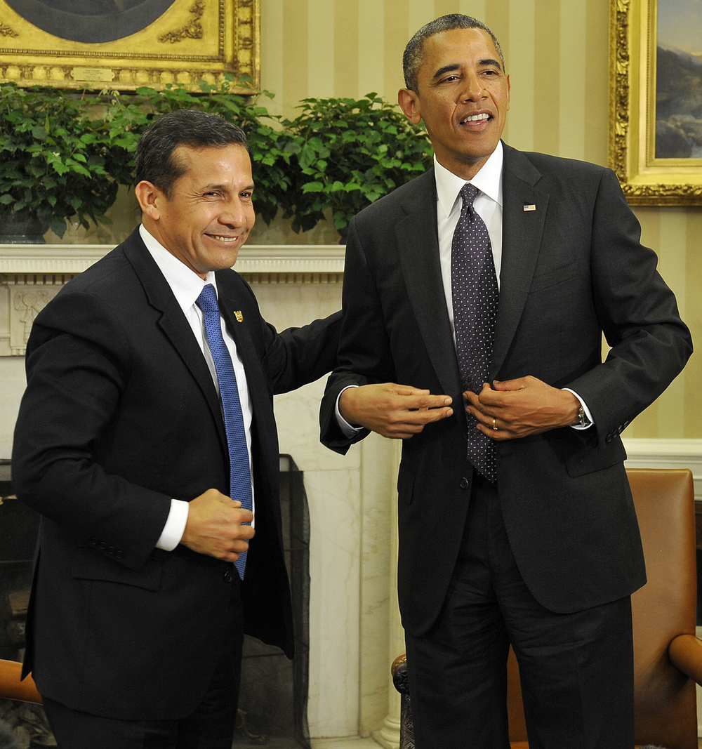 President of Peru Ollanta Humala and US President Barack Obama.