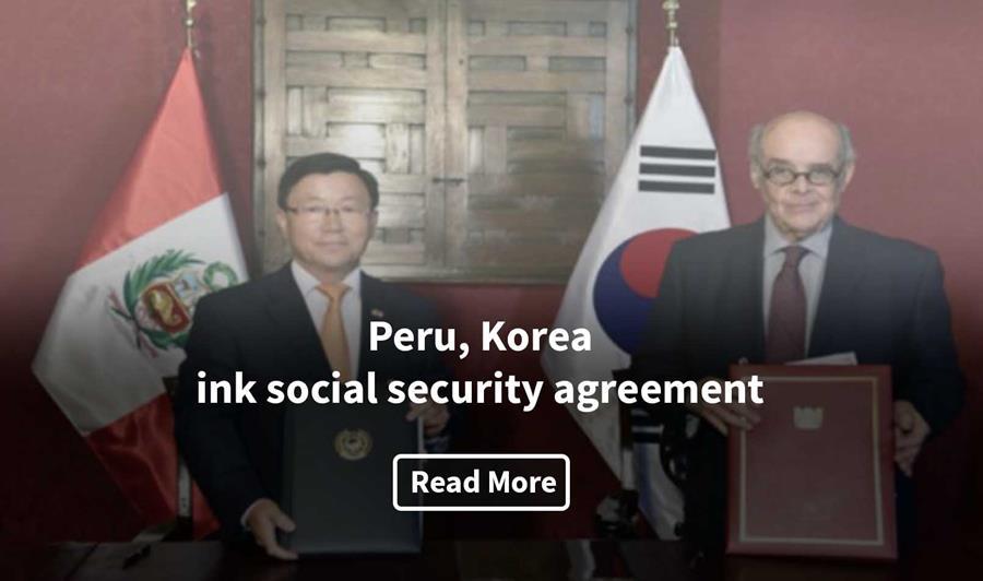 Peru Korea Ink Social Security Agreement Embassy Of Peru In The Usa