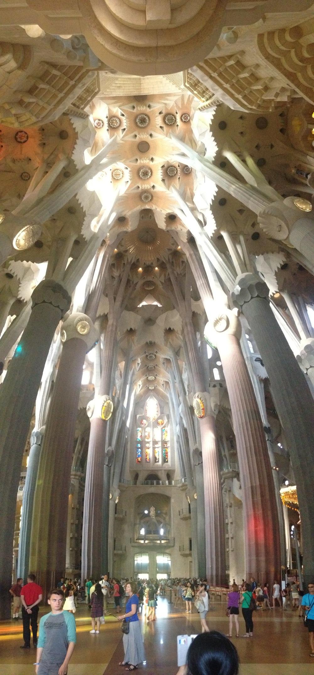Cross Nave, Look to Passion Facade - Sagrada Familia