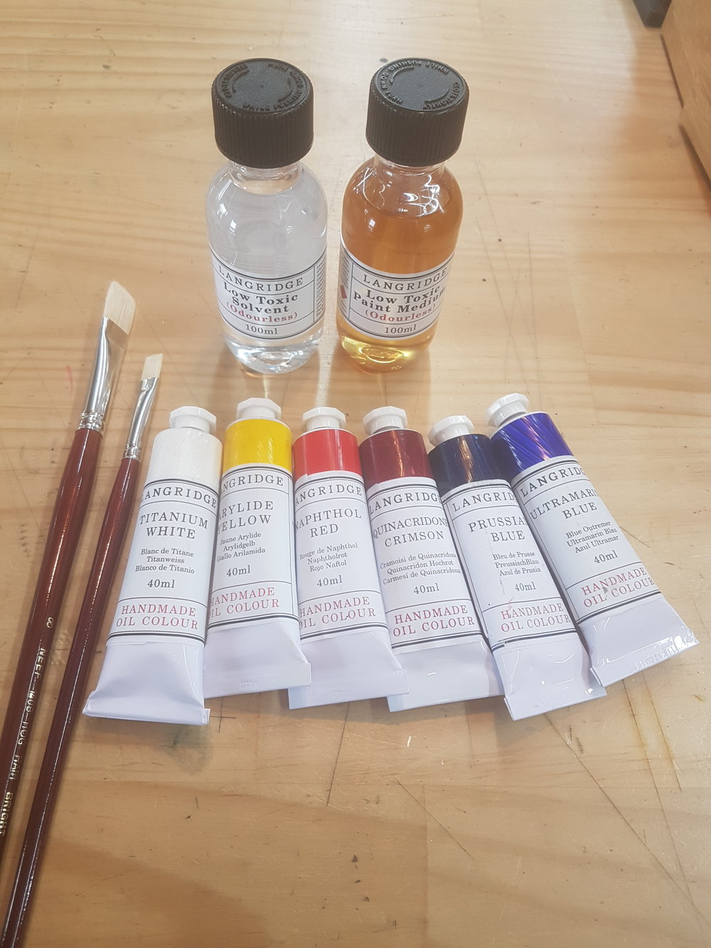 Beginners Oil kit approx., $130
