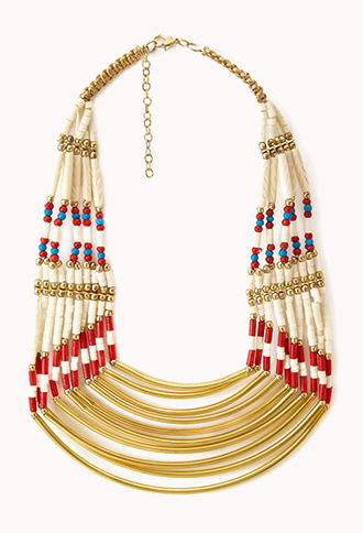 Forever 21 tribal necklace is a bold statement piece that can be taken from the office to Happy Hour